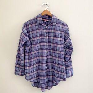 MADEWELL Plaid Button Down Shirt Sz Xs